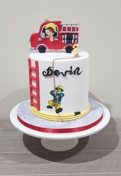 Fireman Sam Cake - cake by The Sweet Cake Artist Firefighter Birthday Cakes, Fireman Birthday, Fireman Party, 3rd Birthday Cakes, Fire Engine Cake, Fireman Sam Cake, Fire Cake, Fire Fighter Cake, Chocolate Caramel Cake