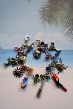 Jimmy Buffett inspired charm bracelet