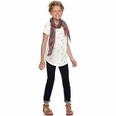 Mudd® crochet-side tee for girls 7-16