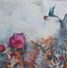 Part of my floral and hummingbird painting series. 16x16-available. To learn more about my work, please visit my website. www.lorrakurtz.com Hummingbird Painting, Contemporary Paintings, Fine Art, Gallery, Floral, Artist, Website, Roof Rack, Flowers