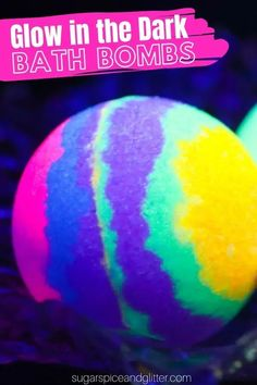 A super simple step-by-step tutorial for how to make GLOW IN THE DARK BATH BOMBS, including a how-to video. Best Bath Bombs, Bath Bomb Molds, Homemade Bath Bombs, Bath Bomb Recipes, Educational Activities For Kids, Girls Camp, Exercise For Kids, Homemade Gifts, Cute Gifts