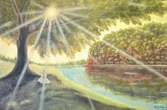 "Saatchi Art Artist Anthony Lusignan; Painting, ""Shade"" #art Paint Shades, Saatchi Art, Original Paintings, Landscape, Artist, Artworks, Animals, Scenery, Animales"