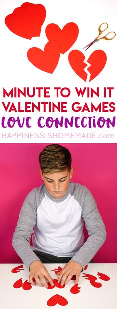 Minute to Win It Valentine Games will be the hit of your Valentine's Day party! Valentine Minute to Win It Games for kids & adults - everyone will want to play!