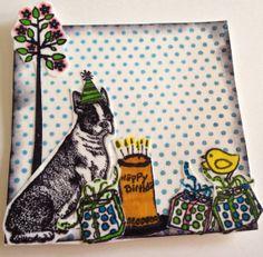 Boston terrier handmade scrapbooking embellishment for sale