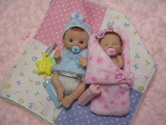 Ooak Baby Sibling Set / Made To Order/ Dollhouse Baby. $50.00, via Etsy.