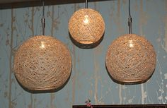 DIY Hemp Pendant Light Fitting