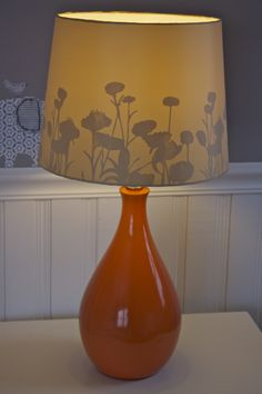 Modern orange lamp in nursery - #projectnursery