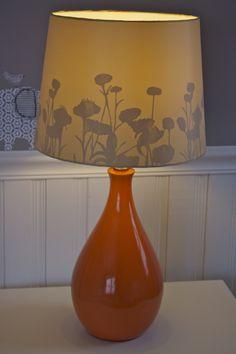 Modern orange lamp in nursery - #projectnursery