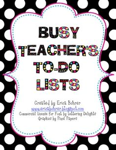 Do you have more ideas than time?  This free download is for To-Do Lists especially designed for TpT sellers!  It will help you organize those thin...