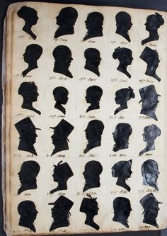 William Bache silhouettes from the Regency Period, @Lauren Kaufman