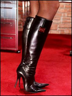 🌹Love These Great Looking Boots Leather High Heel Boots, Thigh High Boots Heels, Stiletto Boots, Knee Boots, High Heels, Sexy Boots, Cool Boots, Talons Sexy, Sexy Stiefel