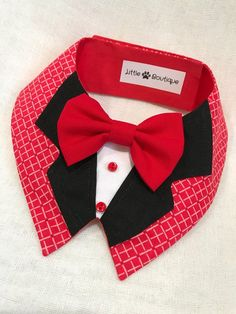 Elegant Red Dog Bandana By Little Paws Boutique