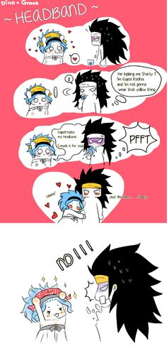 Gajeel and Levy, haha so cute ❤