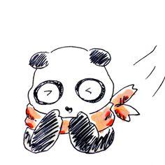 【一日一大熊猫】2016.11.7 立冬。 でも紅葉はまだこれからだね。 #パンダ #立冬 #冬