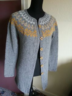 Ravelry: Project Gallery for Afmæli - 20-year anniversary sweater pattern by Védís Jónsdóttir Sweater Jacket, Vest Jacket, Knit Cardigan, 20 Year Anniversary, Dresser Makeovers, Fair Isles, Fair Isle Pattern, Knit Sweaters, Fair Isle Knitting
