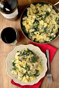 Creamy Kale & Mushroom Chicken Pasta