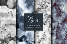 Noir: seamless backgrounds for your next design projects. by Shusha_guna on @creativemarket
