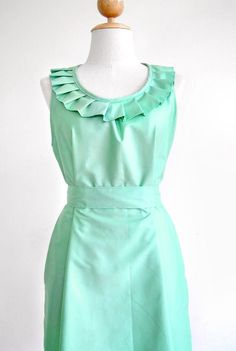 Custom fully lined pleated collar dress in mint by Ananya on Etsy, $60.00