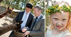 A petting zoo is a sure way to entertain your younger guests | Real Wedding: Jonathan Skinner & Scott Thompson | Photo by: Those We Fancy Photography | Seattle Met Bride and Groom S/F 13