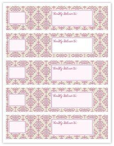 Free printable wrap around address labels.