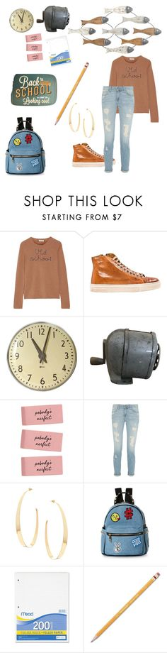 """School daze!"" by deb-kaiser ❤ liked on Polyvore featuring Lingua Franca, Lana, IMoshion, Mead and Paper Mate"