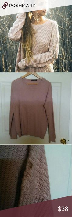 Brandy Melville blush Ollie One flaw i think its paint or something wasn't told about it but doesn't effect wear at all not even noticeable Brandy Melville Sweaters Crew & Scoop Necks