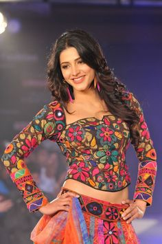 Shruthi Hassan on Ramp..designer blouse / top..so colorful, trendy and traditional at the same time..you can wear it with long umbrella skirts and also as chaniya choli...Its beauty is more visible when you click and open the pic..don't just scroll!