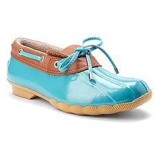 Sperry Top-Sider Cormorant Turquoise/Tan $79.95