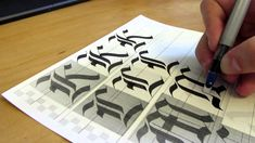 Gothic calligraphy tutorial, majuscule letters. Free to share on social media. How to learn Gothic Calligraphy (Capitals) for Beginners