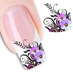 2PCS 3D Nail Stickers Water Transfers Decals Nail Art Decal / Tattoo / Sticker Beauty Nail Salon For Girls  C96953 by Showy4you on Etsy