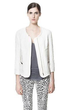 COMBINATION TEXTURED CARDIGAN - Blazers - Woman - ZARA India