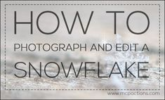 How to Photograph and Edit a Snowflake + A Free Sparkle Brush » MCP Actions