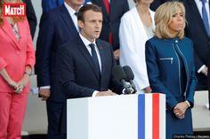 """Lors d'une brève allocution, le président français Emmanuel Macron a assuré que """"rien"""" ne """"séparera jamais"""" la France des Etats-Unis."""