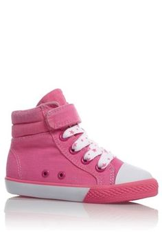 Bright Pink Hi Tops (Younger Girls) from the Next UK online shop