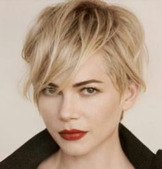 Michelle Williams hair cut, hair color, and makeup! Absolutely love everything about it. #michellewilliamshair