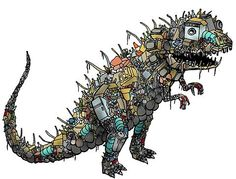 Dinosaur art ... my 5 year old will go bananas for this! (and so will I)