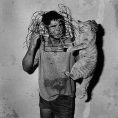 Roger Ballen :: Outland, Cat Catcher, 1998