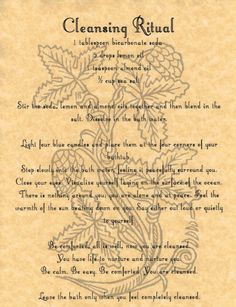 Cleansing Ritual, Book of Shadows Page, BOS Pages, Rare Wiccan Spells, Pagan picclick.com