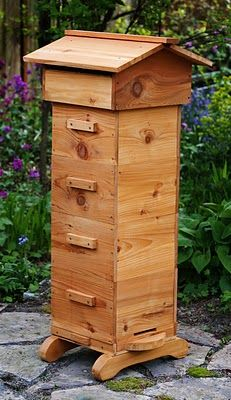 Yes, you guessed it...no great garden would be complete without a honey bee hive!