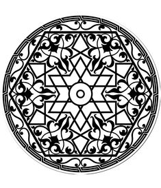 Free coloring page coloring-adult-pattern-arabe. Arabs patterns in a beautiful mandala patterns for adult