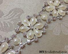 18 Crystal rhinestone chain trim rhinestone by DIYBrideBoutique, $19.99