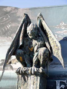 Gargoyles. This guy is pretty impressive.