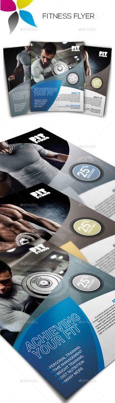 Fitness Flyer Template PSD. Download here: http://graphicriver.net/item/fitness-flyer/14845618?ref=ksioks