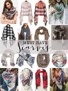 Shop these must have scarves for Fall.  Amazing style, incredible prices!