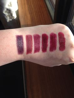 From Left to Right (all MAC): Cyber, Sin(Matte and Pro Product), Media, Darkside, Hang Up & Diva(Matte)