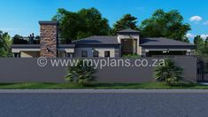 4 Bedroom House Plan – My Building Plans South Africa 4 Bedroom House Plans, My House Plans, Family House Plans, My Building, Building Plans, Open Plan, South Africa, House Design, How To Plan