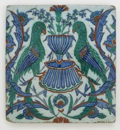 Earthenware, Ceramics and Tiles at the Smithsonian Museum « Islamic Arts and Architecture Turkish Tiles, Turkish Art, Islamic Tiles, Islamic Art, Tile Art, Mosaic Tiles, Perse Antique, Art Et Architecture, Ancient Persian