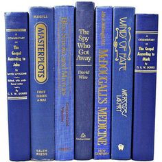 ROYAL BLUE Decorative Books, Centerpiece, Wedding Decor, Book Collection Set, Table Settings, Home Library, Interior Design, decorating navy