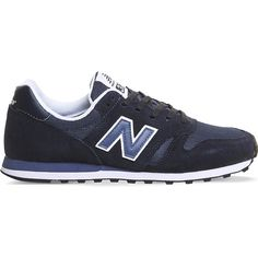 New Balance MI373 Suede and mesh trainers ($64) ❤ liked on Polyvore featuring shoes, sneakers, new balance, new balance trainers, new balance sneakers, navy suede shoes and navy blue sneakers