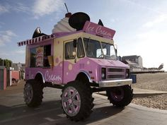 A Monster Truck Gets Turned Into A 'World's Biggest Ice Cream Van'